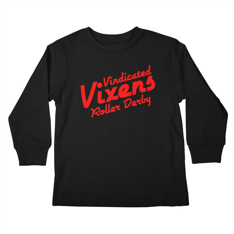Classic [Red] Kids Longsleeve T-Shirt by Vindicated Vixens Roller Derby