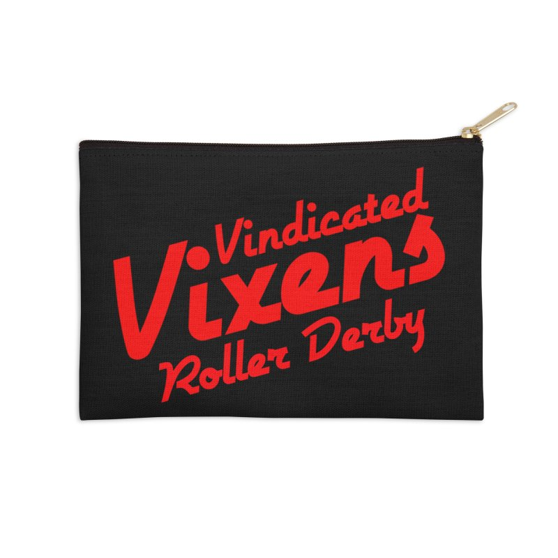 Classic [Red] Accessories Zip Pouch by Vindicated Vixens Roller Derby