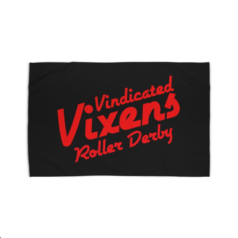 Classic [Red] Home Rug by Vindicated Vixens Roller Derby