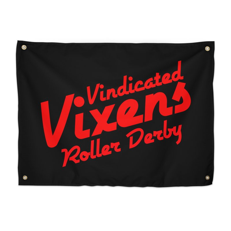 Classic [Red] Home Tapestry by Vindicated Vixens Roller Derby