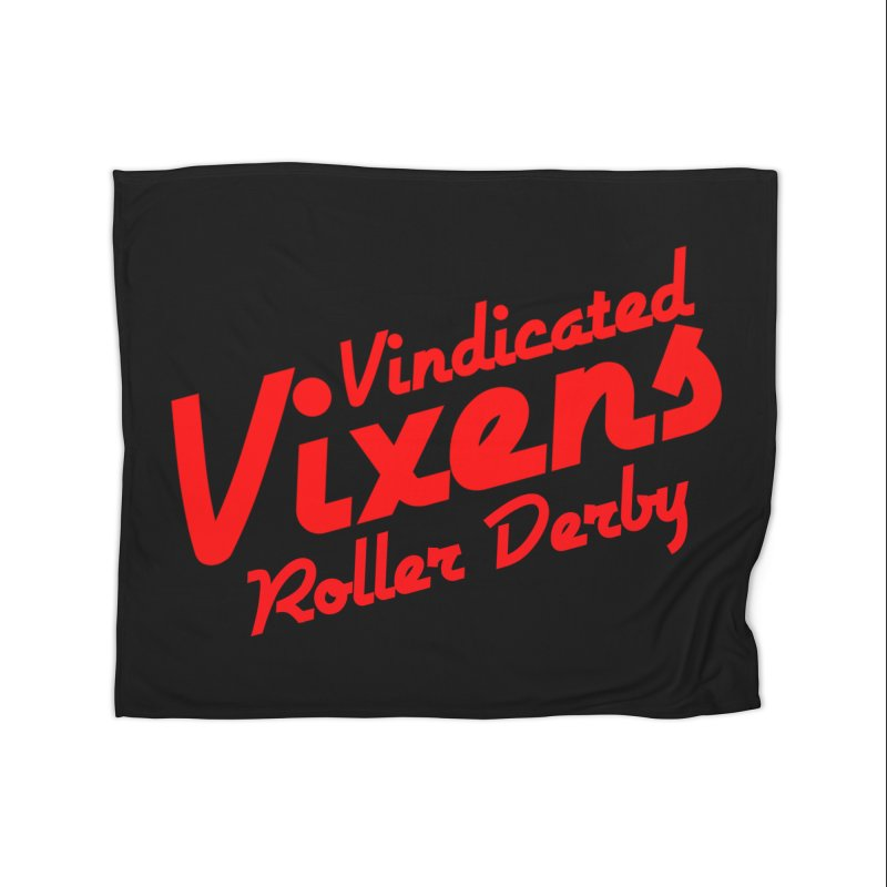 Classic [Red] Home Fleece Blanket Blanket by Vindicated Vixens Roller Derby