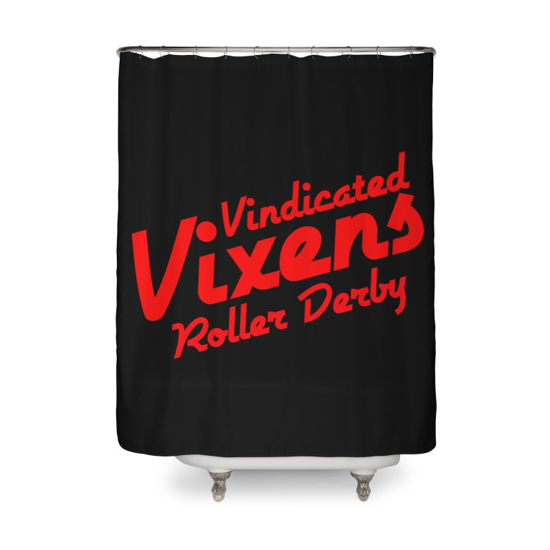 Classic [Red] Home Shower Curtain by Vindicated Vixens Roller Derby