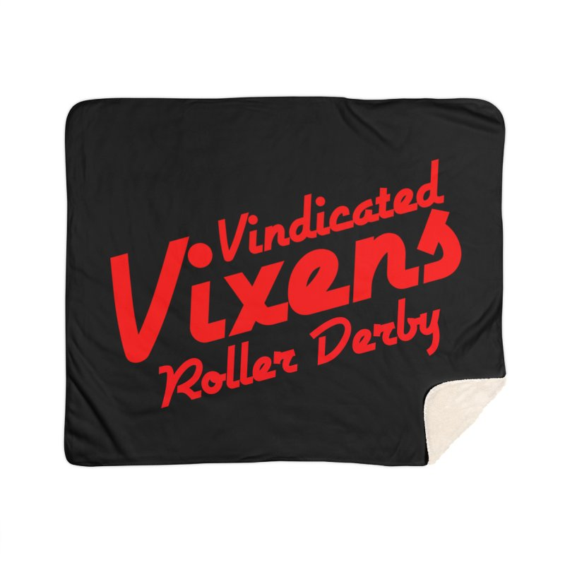 Classic [Red] Home Sherpa Blanket Blanket by Vindicated Vixens Roller Derby