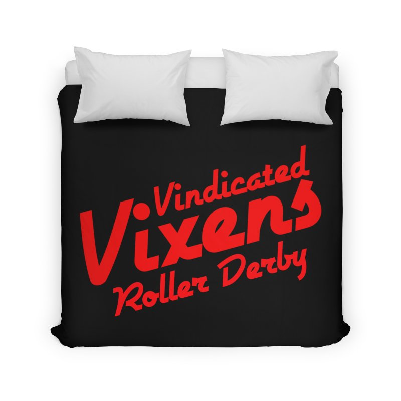 Classic [Red] Home Duvet by Vindicated Vixens Roller Derby
