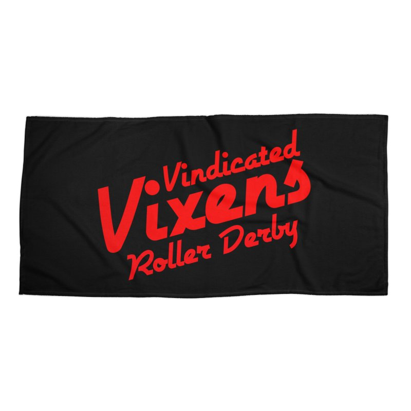 Classic [Red] Accessories Beach Towel by Vindicated Vixens Roller Derby