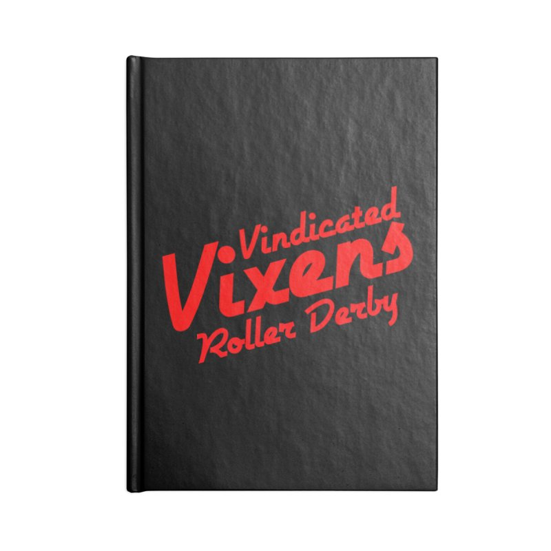 Classic [Red] Accessories Lined Journal Notebook by Vindicated Vixens Roller Derby
