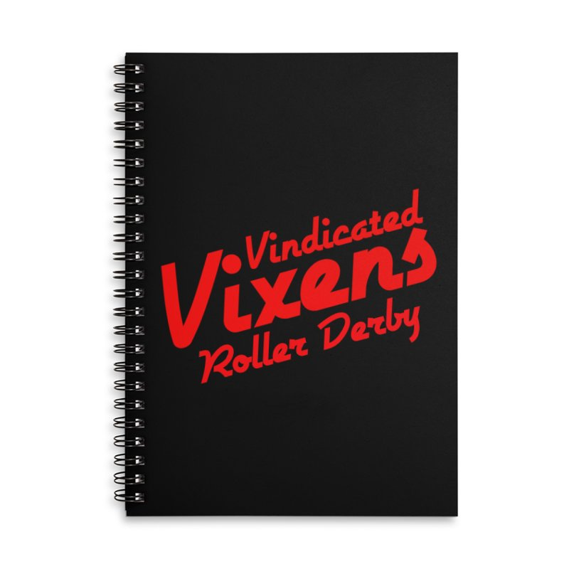 Classic [Red] Accessories Lined Spiral Notebook by Vindicated Vixens Roller Derby