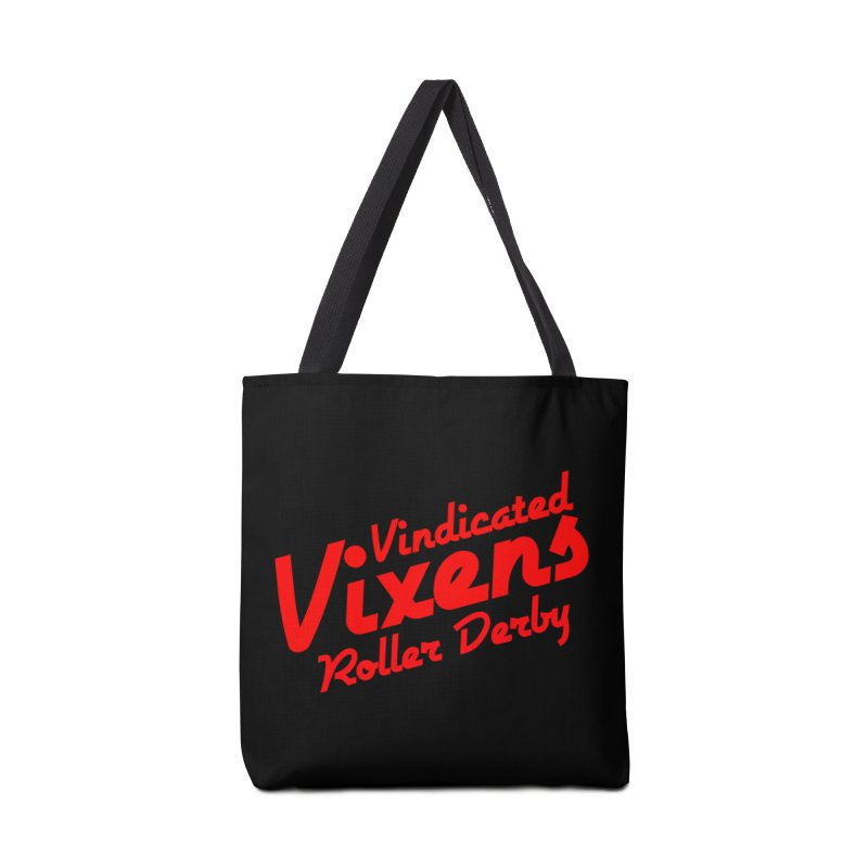 Classic [Red] Accessories Tote Bag Bag by Vindicated Vixens Roller Derby