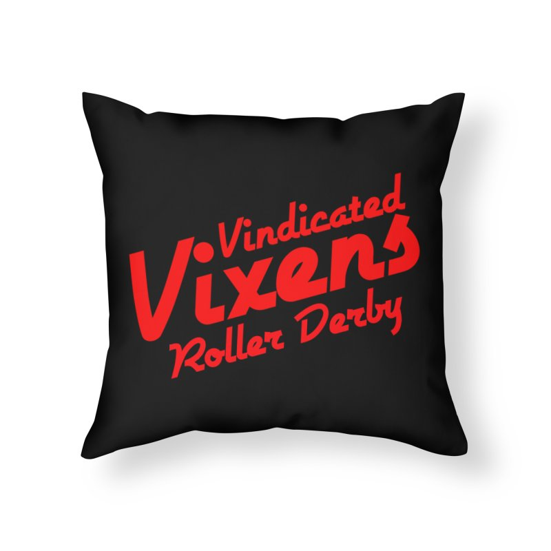 Classic [Red] Home Throw Pillow by Vindicated Vixens Roller Derby