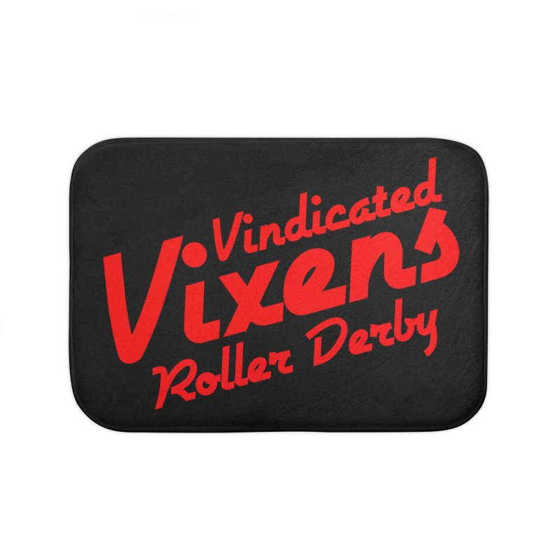 Classic [Red] Home Bath Mat by Vindicated Vixens Roller Derby