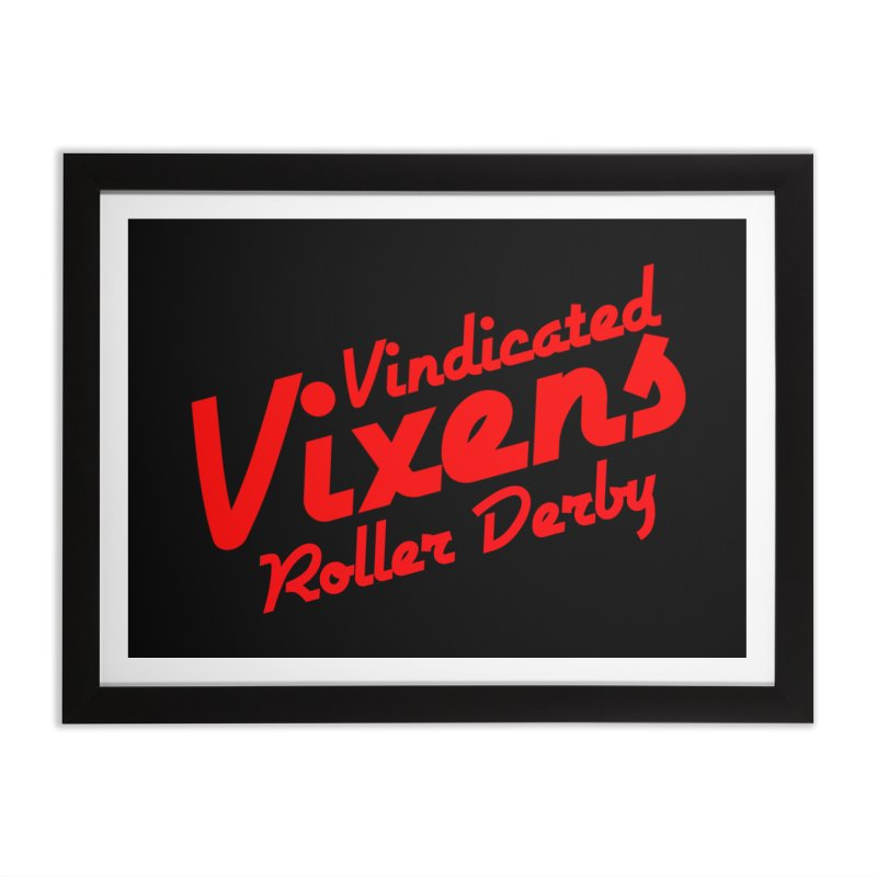 Classic [Red] Home Framed Fine Art Print by Vindicated Vixens Roller Derby