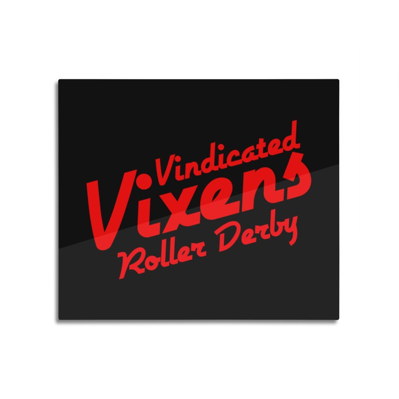 Classic [Red] Home Mounted Aluminum Print by Vindicated Vixens Roller Derby
