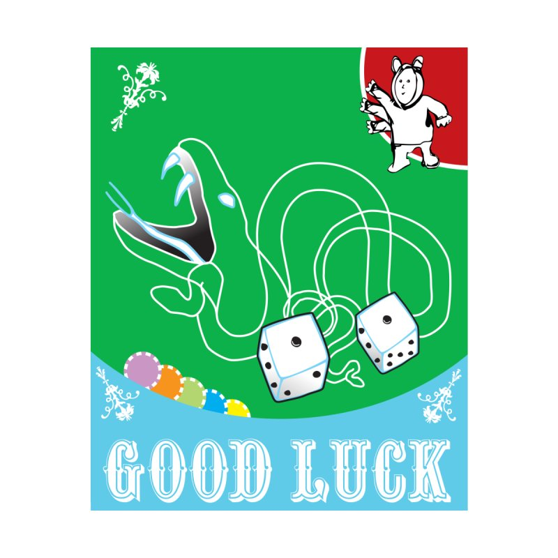 Good Luck Snake Eyes Accessories Sticker by Vinnie Ray's Apparel Shop