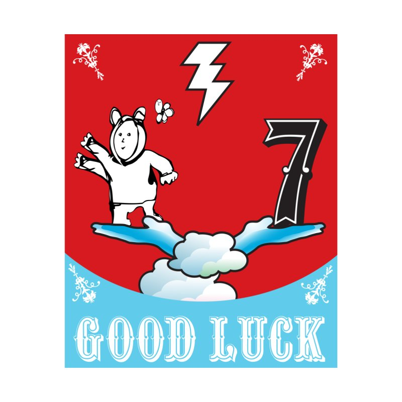 Good Luck Magic Seven Accessories Sticker by Vinnie Ray's Apparel Shop