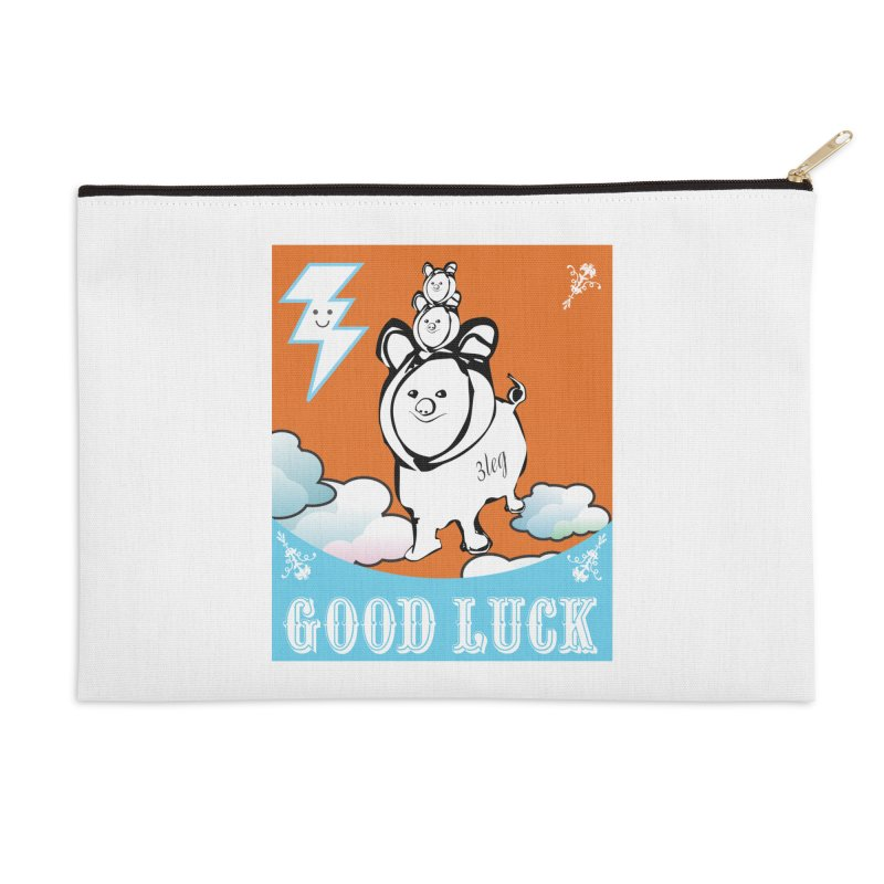 Good Luck Chanchitos Accessories Zip Pouch by Vinnie Ray's Apparel Shop