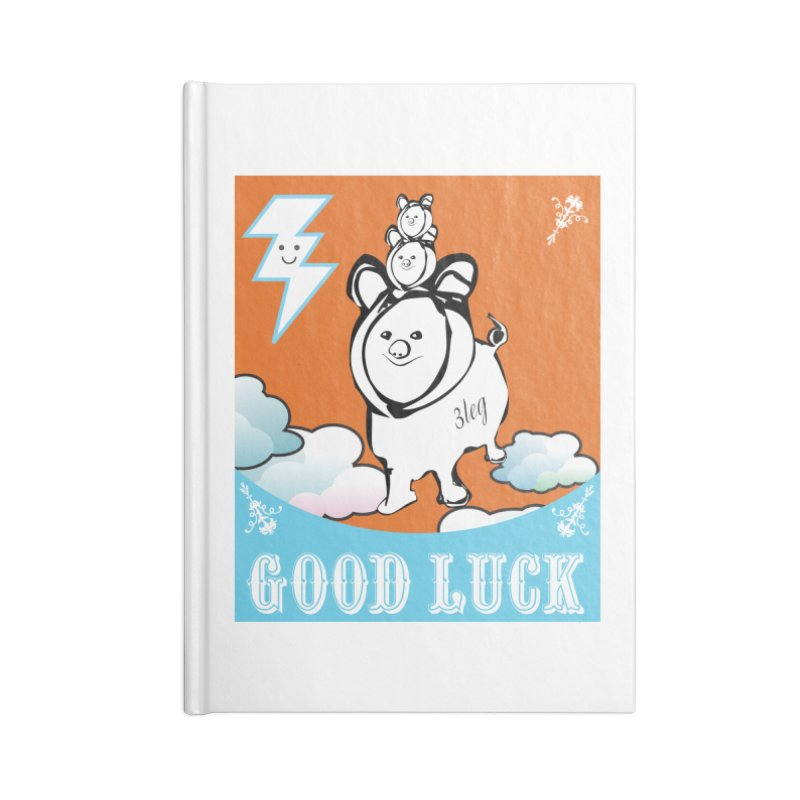 Good Luck Chanchitos Accessories Notebook by Vinnie Ray's Apparel Shop