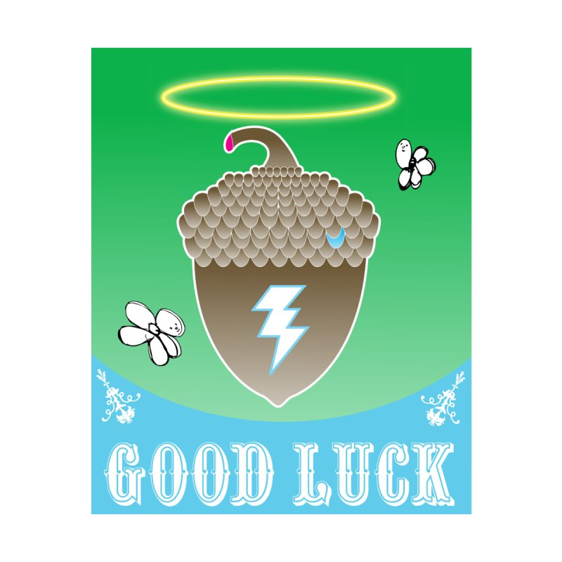 Good Luck Acorn Halo Accessories Sticker by Vinnie Ray's Apparel Shop