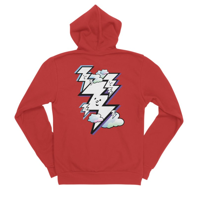 Good Luck Bolt Strike Men's Zip-Up Hoody by Vinnie Ray's Apparel Shop