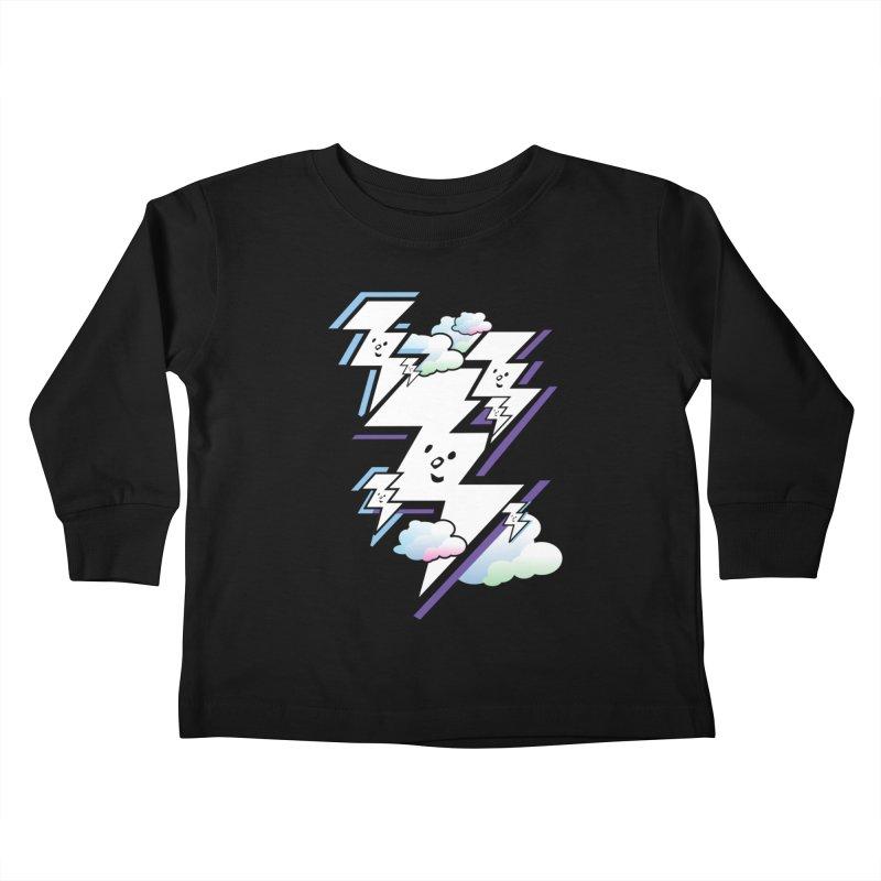 Good Luck Bolt Strike Kids Toddler Longsleeve T-Shirt by Vinnie Ray's Apparel Shop