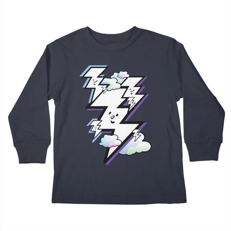 Good Luck Bolt Strike Kids Longsleeve T-Shirt by Vinnie Ray's Apparel Shop