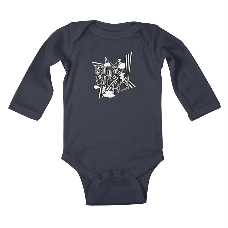 Good Luck Energy Field Kids Baby Longsleeve Bodysuit by Vinnie Ray's Apparel Shop