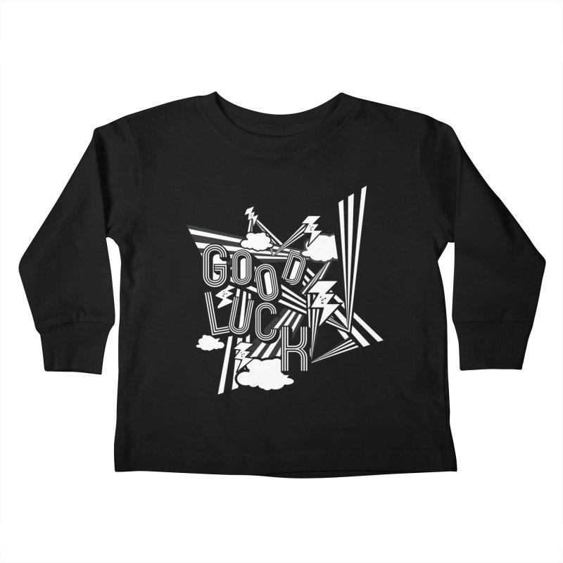 Good Luck Energy Field Kids Toddler Longsleeve T-Shirt by Vinnie Ray's Apparel Shop