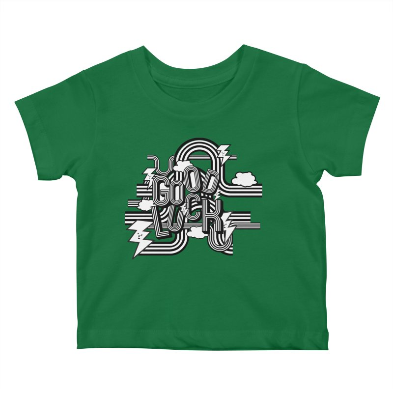 Good Luck Energy Field Kids Baby T-Shirt by Vinnie Ray's Apparel Shop