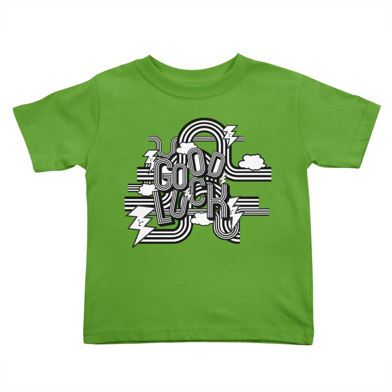 Good Luck Energy Field Kids Toddler T-Shirt by Vinnie Ray's Apparel Shop