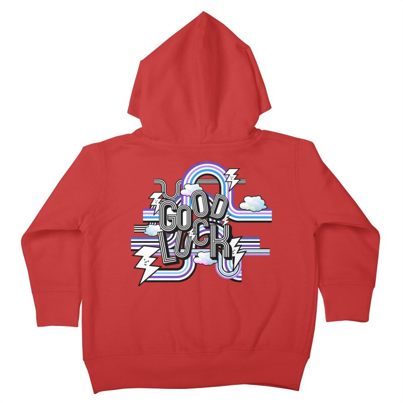 Good Luck Energy Field Kids Toddler Zip-Up Hoody by Vinnie Ray's Apparel Shop