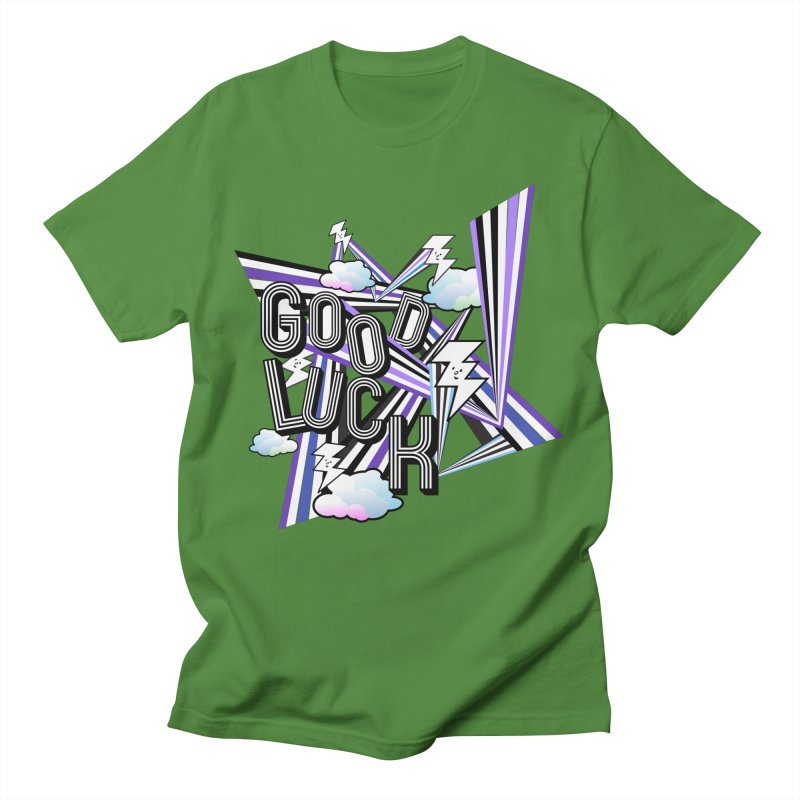 Good Luck Energy Field Men's T-Shirt by Vinnie Ray's Apparel Shop