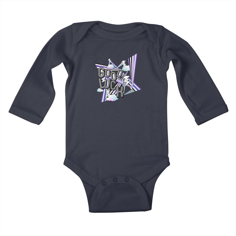 Good Luck Energy Field Kids Baby Longsleeve Bodysuit by Vinnie Ray's Apparel Shop