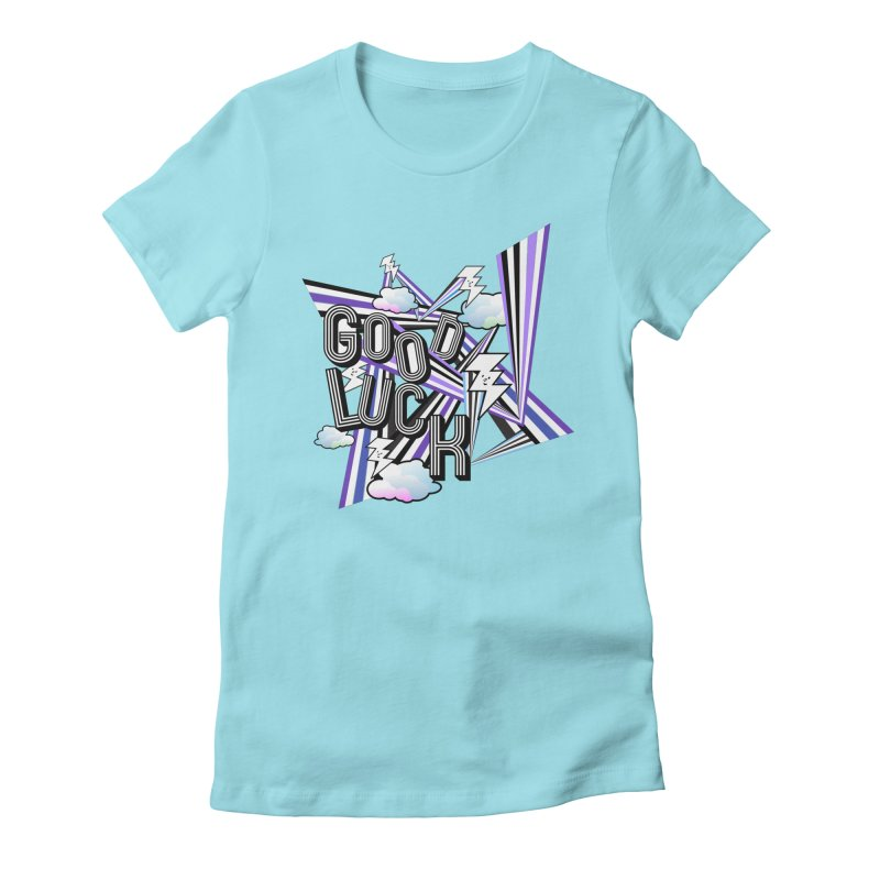 Good Luck Energy Field Women's T-Shirt by Vinnie Ray's Apparel Shop