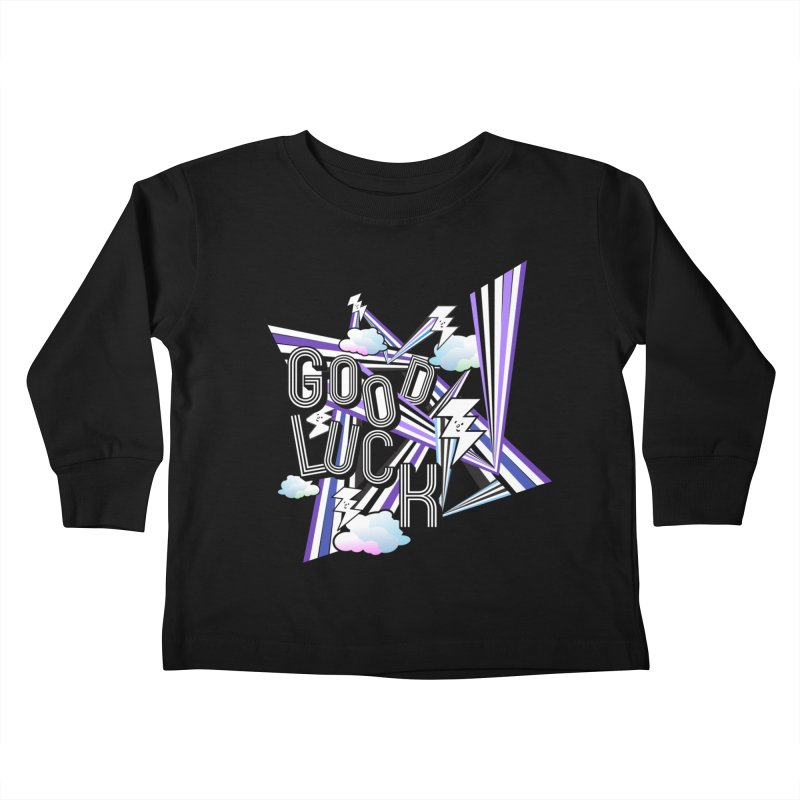 Good Luck Energy Field Kids Toddler Longsleeve T-Shirt by Vinnie Ray's Apparel Shop