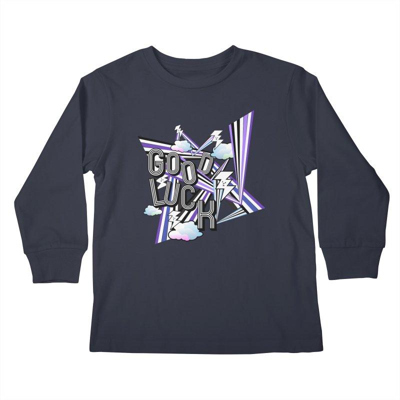 Good Luck Energy Field Kids Longsleeve T-Shirt by Vinnie Ray's Apparel Shop