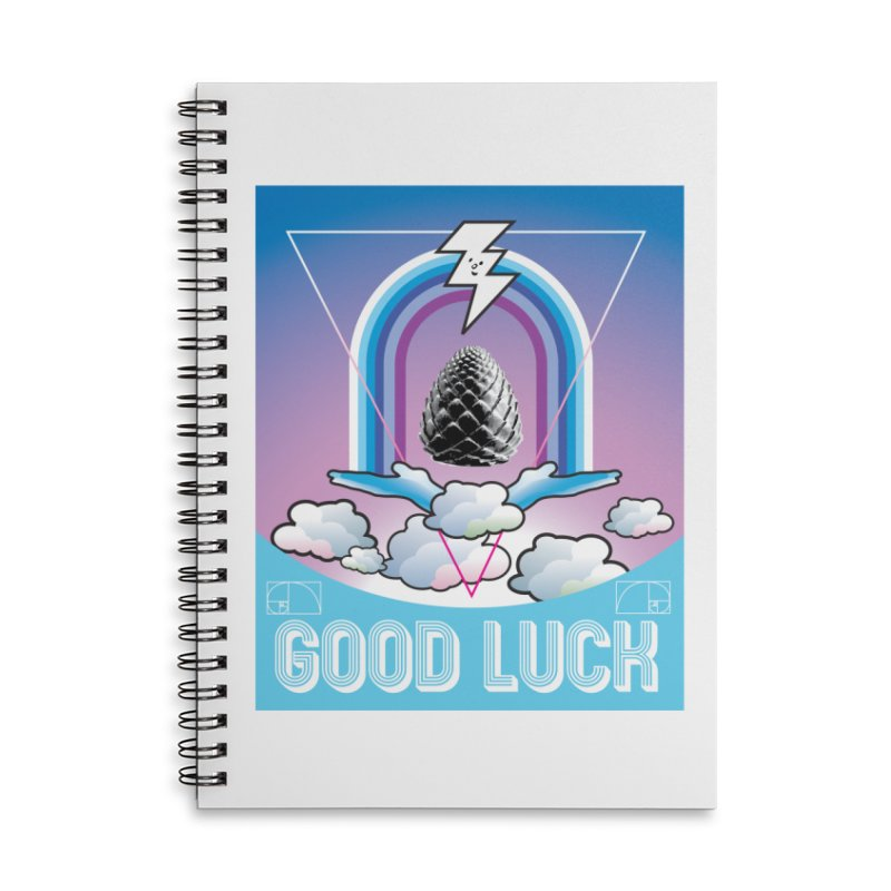 Good Luck Pinecone 2 Accessories Notebook by Vinnie Ray's Apparel Shop