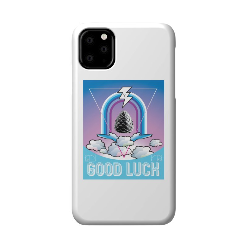 Good Luck Pinecone 2 Accessories Phone Case by Vinnie Ray's Apparel Shop