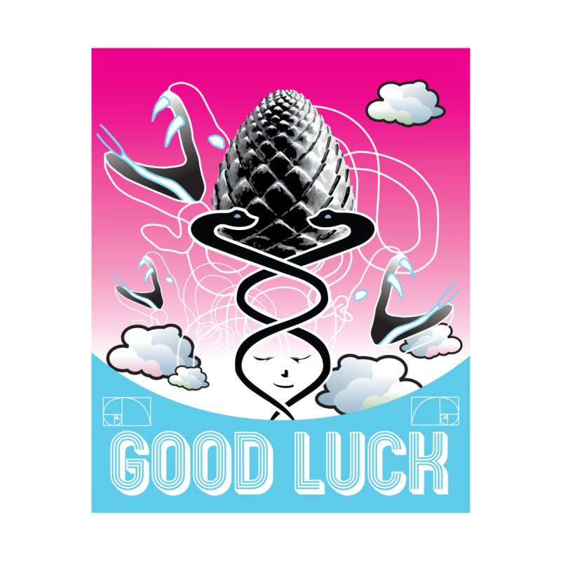 Good Luck Pinecone 3 Accessories Sticker by Vinnie Ray's Apparel Shop