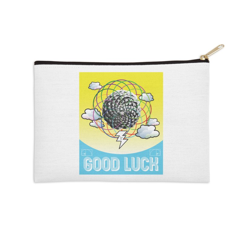Good Luck Pinecone 4 Accessories Zip Pouch by Vinnie Ray's Apparel Shop