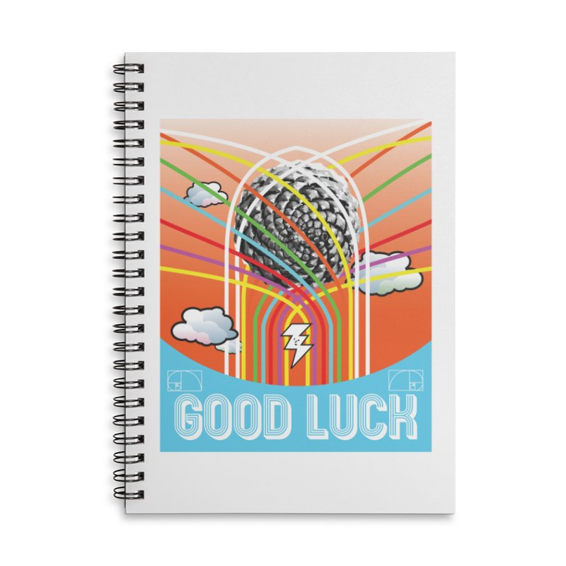 Good Luck Pinecone 5 Accessories Notebook by Vinnie Ray's Apparel Shop