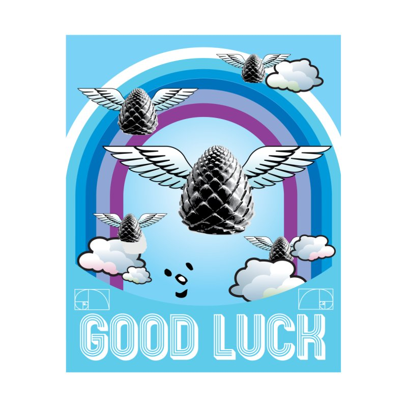 Good Luck Pinecone 6 Accessories Sticker by Vinnie Ray's Apparel Shop
