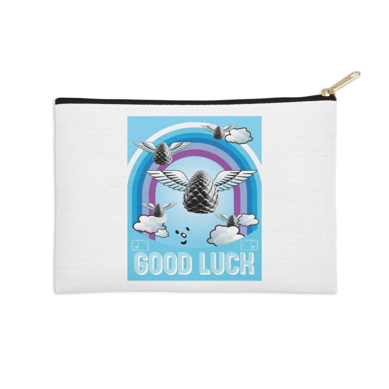 Good Luck Pinecone 6 Accessories Zip Pouch by Vinnie Ray's Apparel Shop