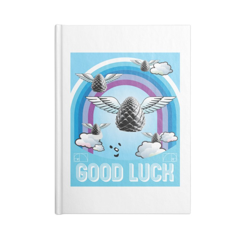 Good Luck Pinecone 6 Accessories Notebook by Vinnie Ray's Apparel Shop