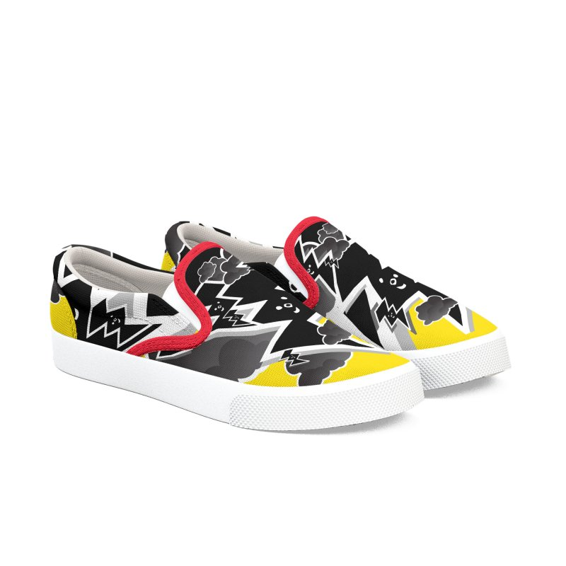 Good Luck: Lucky Shoes Yellow/Black Men's Shoes by Vinnie Ray's Apparel Shop