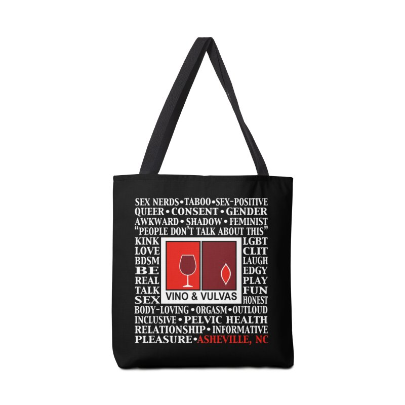 Vino & Vulvas Asheville, NC Accessories Tote Bag Bag by Vino & Vulvas Artist Shop