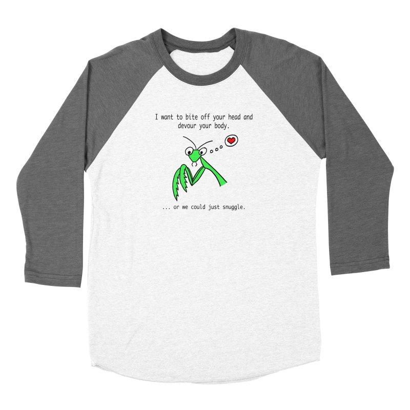 Mantis Love Women's Baseball Triblend Longsleeve T-Shirt by Vino & Vulvas Artist Shop