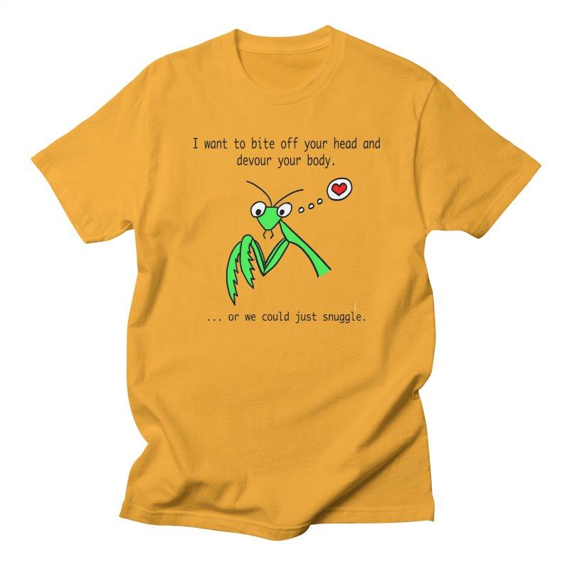 Mantis Love Men's Regular T-Shirt by Vino & Vulvas Artist Shop