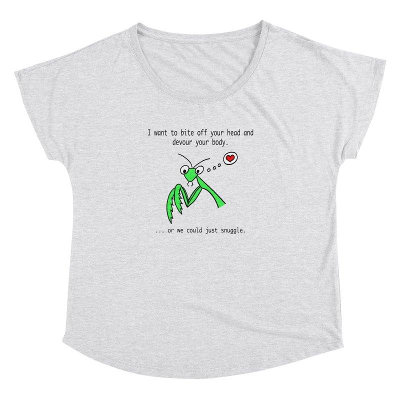 Mantis Love Women's Scoop Neck by Vino & Vulvas Artist Shop
