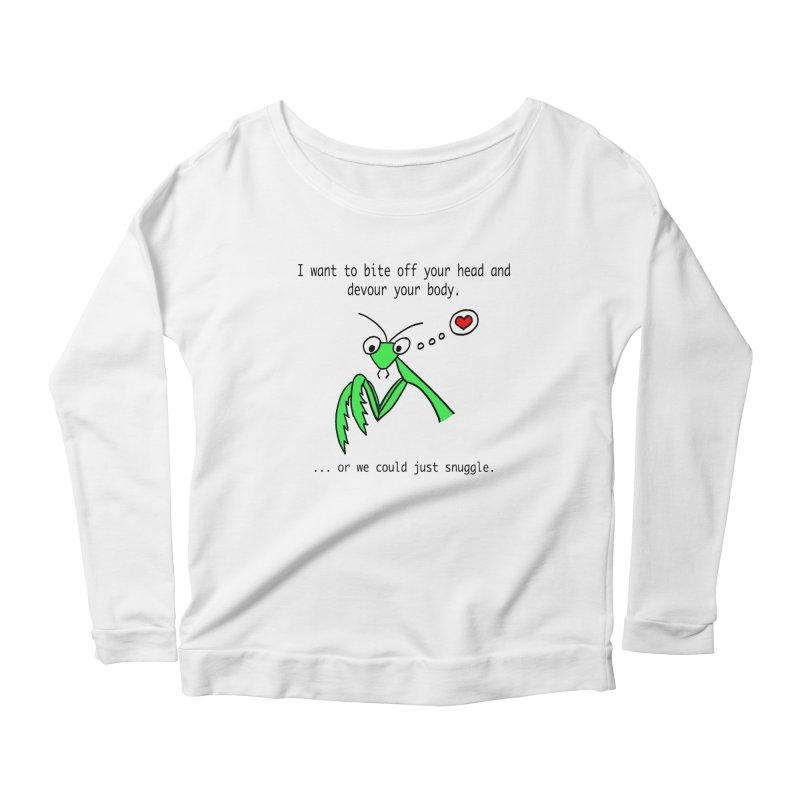 Mantis Love Women's Scoop Neck Longsleeve T-Shirt by Vino & Vulvas Artist Shop