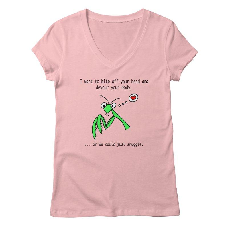 Mantis Love Women's Regular V-Neck by Vino & Vulvas Artist Shop