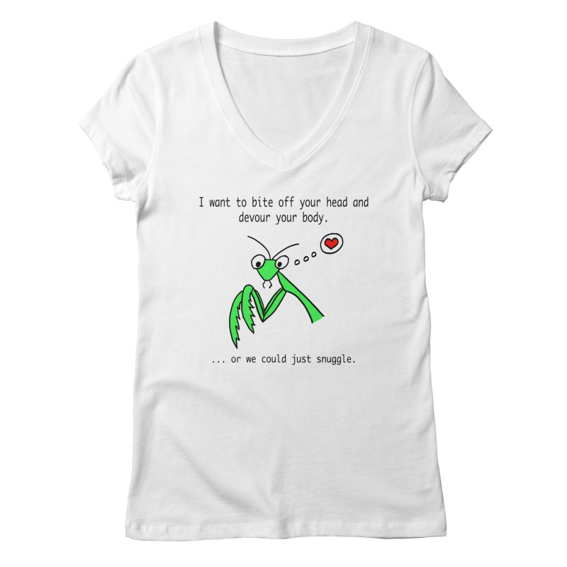 Mantis Love Women's Regular V-Neck by Vino & Vulvas Artist Shop